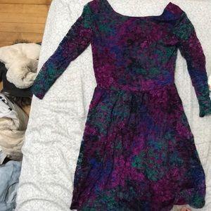 TARGET dark floral dress
